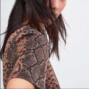 Zara Dresses - NWT's Zara Faux Suede Animal Print Dress Small S